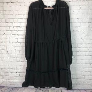 Torrid black polka dot light summer dress